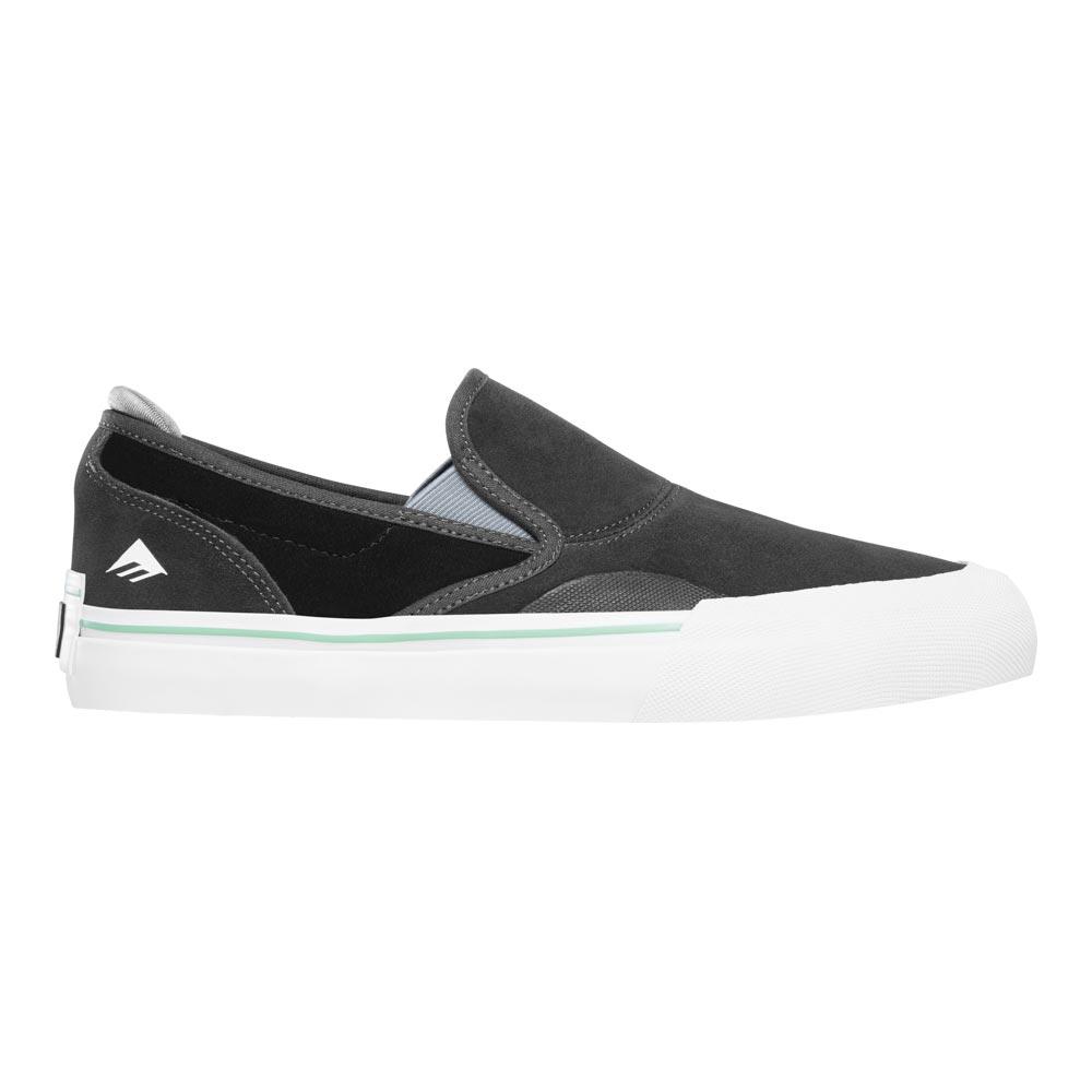 Emerica Wino G6 Slip On Dark Grey Black Men's Shoes