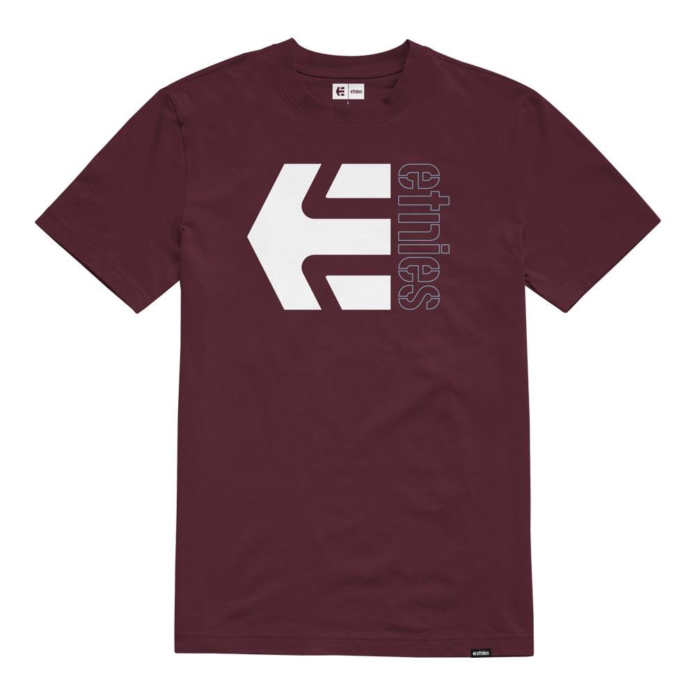 Etnies Corp Combo Burgundy Men's T-Shirt