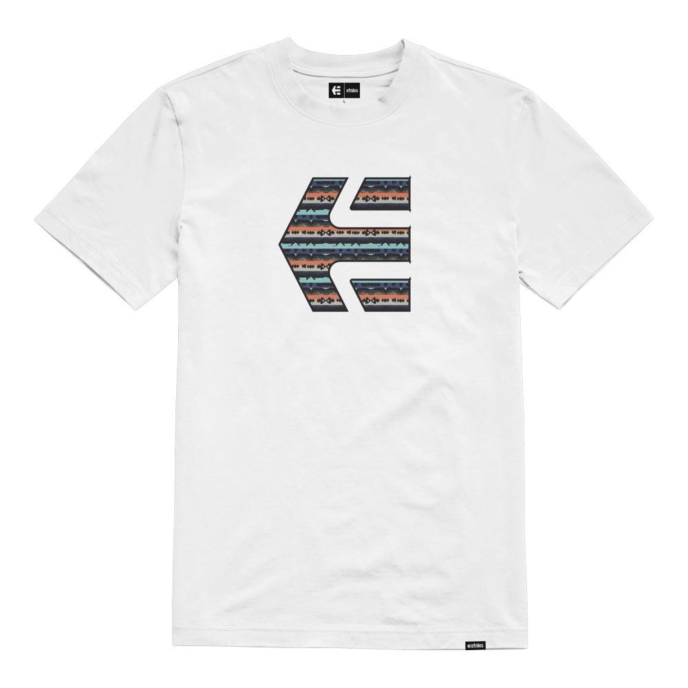 Etnies Icon Print White Blue Men's T-Shirt