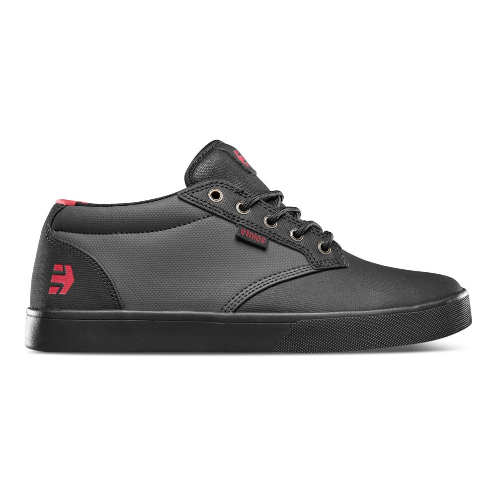 Etnies Jameson Mid Crank Black Dark Grey Red Men's Shoes