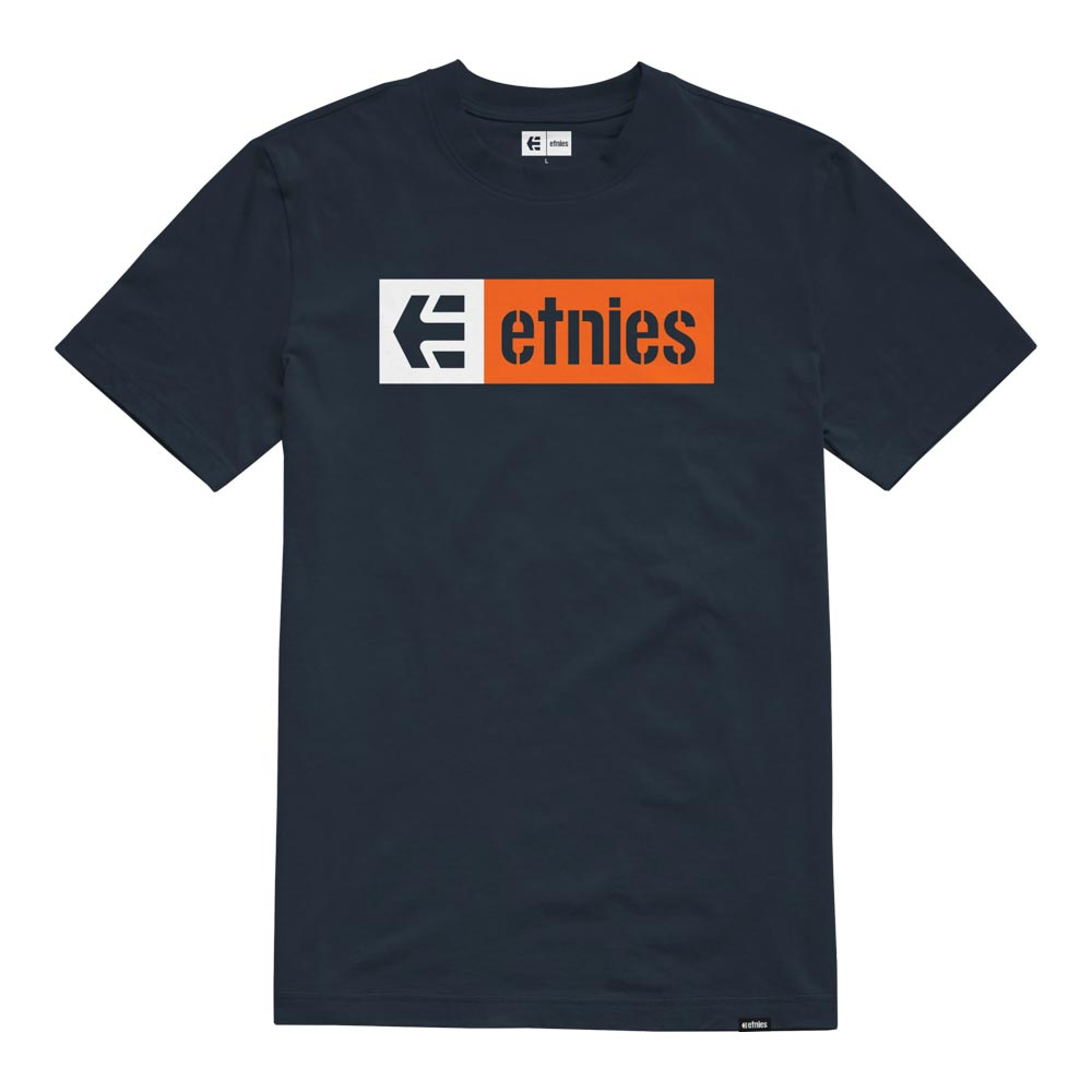Etnies New Box Navy Orange Men's T-Shirt