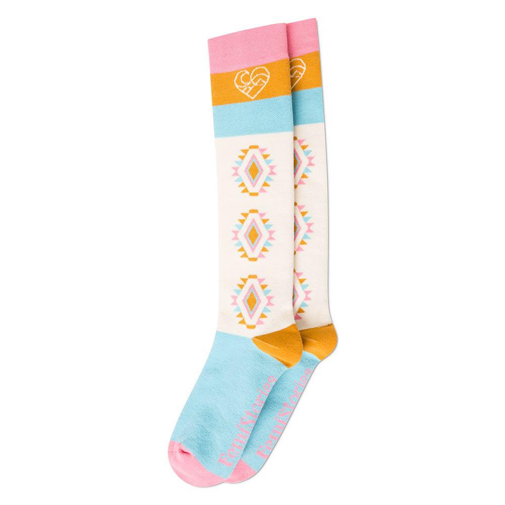 Femi Stories Ecru Mint Snow Socks