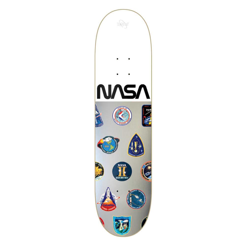Habitat Nasa Collection Silver White Foil 8.0 Skate Deck
