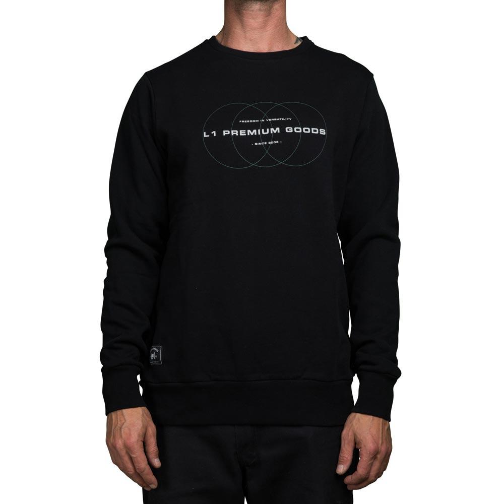 L1 Emblem Crew Black Ανδρικό Φούτερ