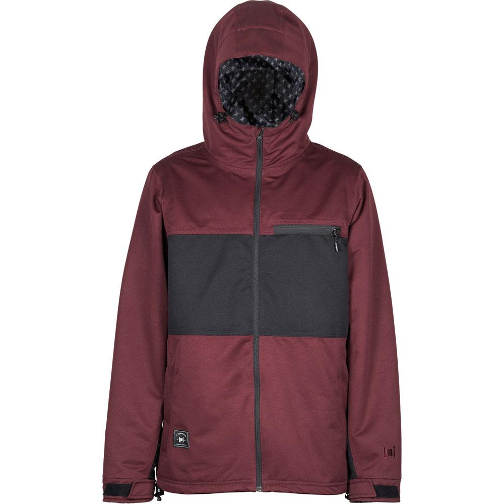 L1 Hasting Wine Black Men's Snow Jacket