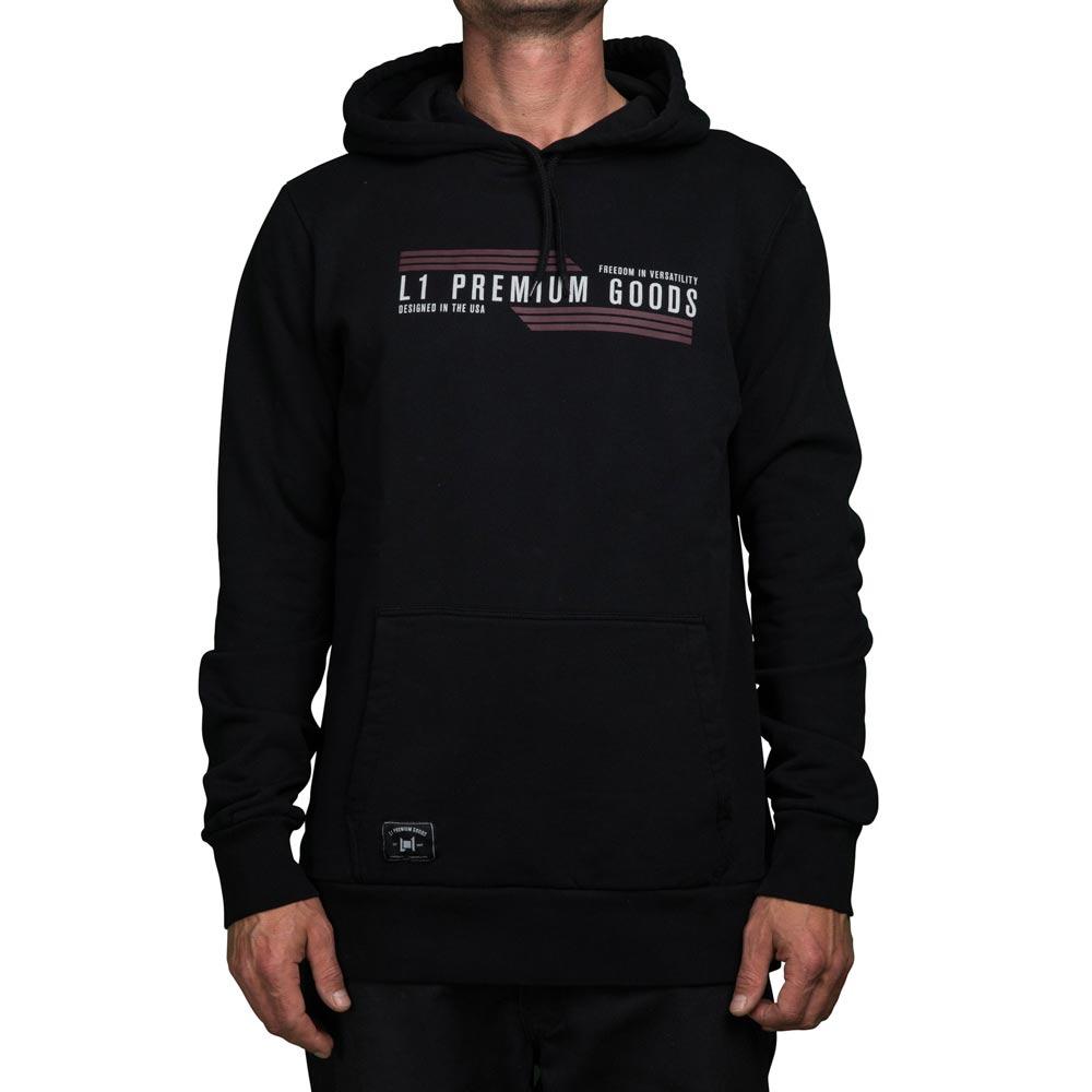 L1 Wordmark Pullover Black Men's Hoodie