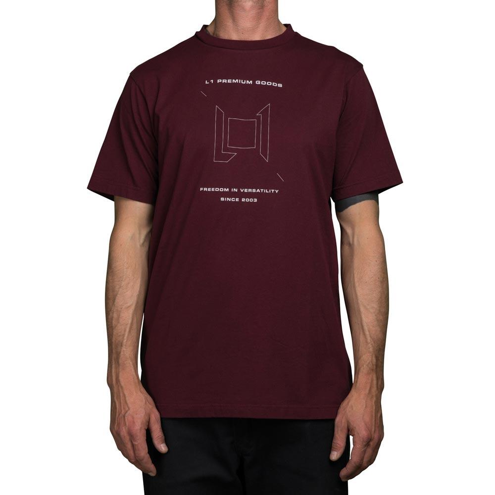 L1 Wordmark Wine Mens's T-Shirt