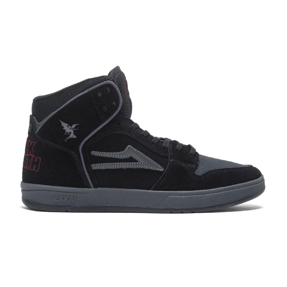 Lakai X Black Sabbath Telford Black Grey Suede Men's Shoes
