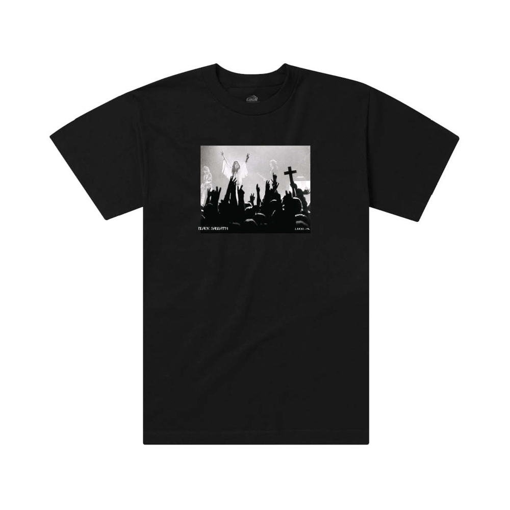Lakai X Black Sabbath Tour Photo Black Men's T-Shirt
