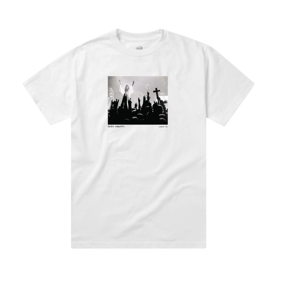 Lakai X Black Sabbath Tour Photo White Men's T-Shirt