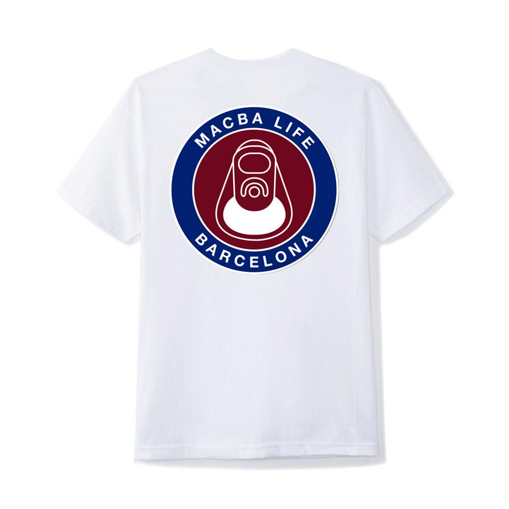 Macba life Two Tones White Men's T-Shirt
