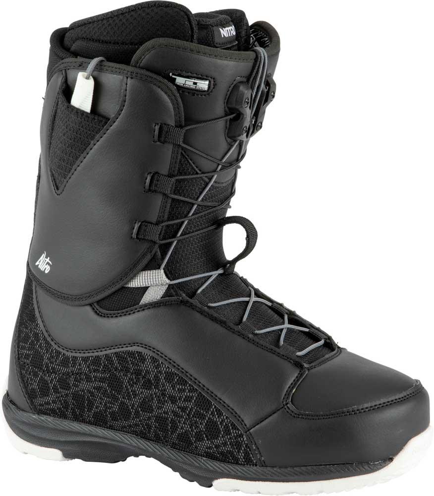 Nitro Futura Tls Black White Women's Snowboard Boots