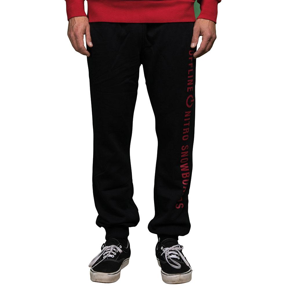 Nitro Offline Black Ανδρικό Παντελόνι
