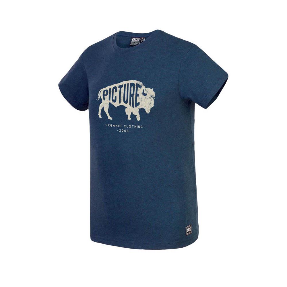 Picture Dawson Dark Blue Melange Ανδρικό T-shirt