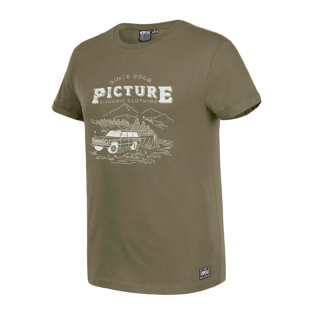 PICTURE LIFESTYLE DARK ARMY GREEN T-SHIRT