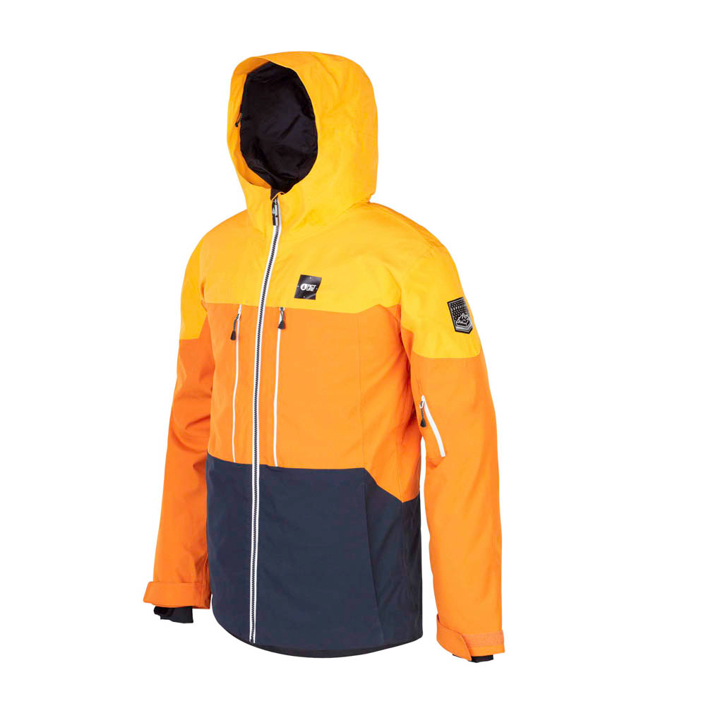 PICTURE OBJECT YELLOW SNOW JACKET