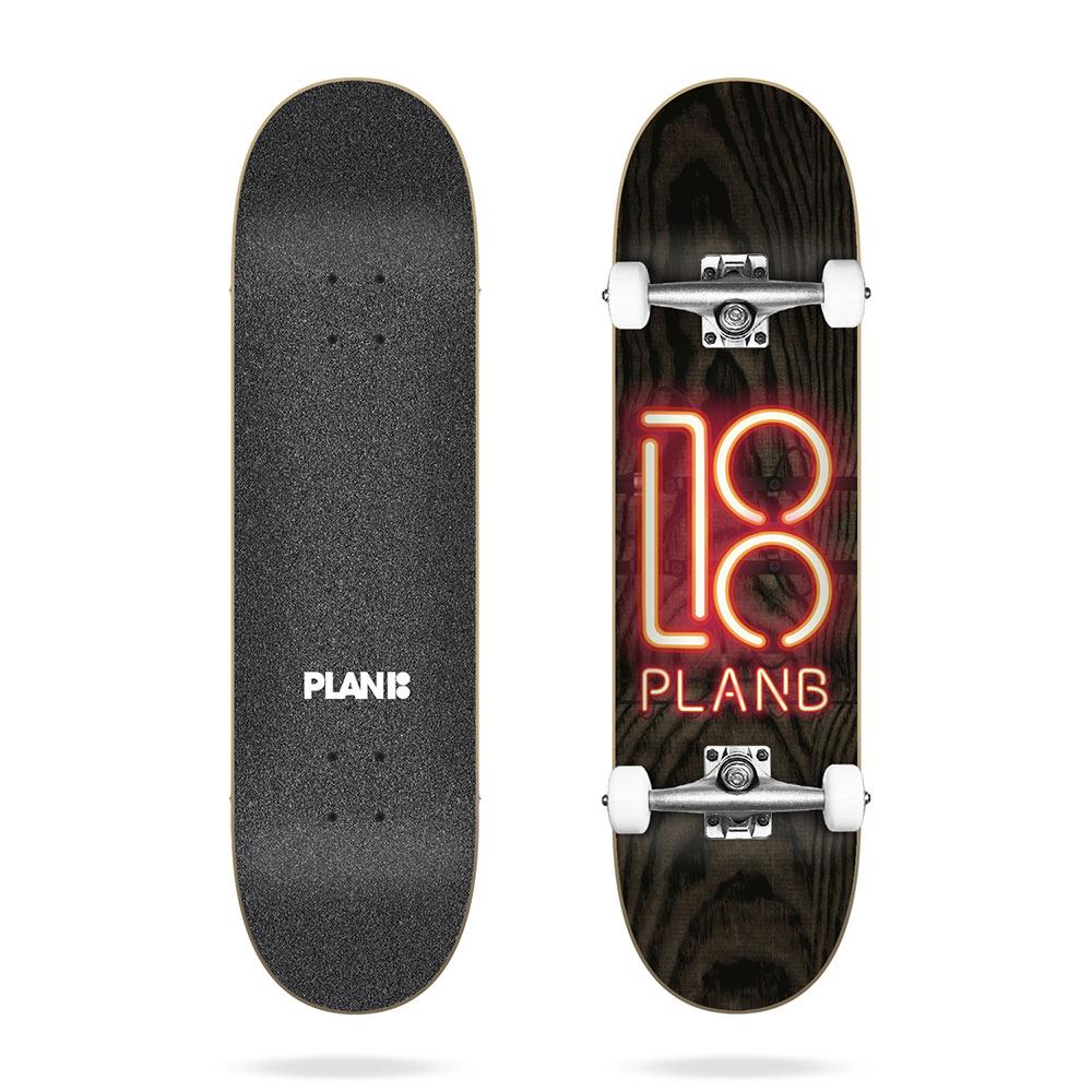 Plan B Team Neon Sign 8.0 Complete Skateboard