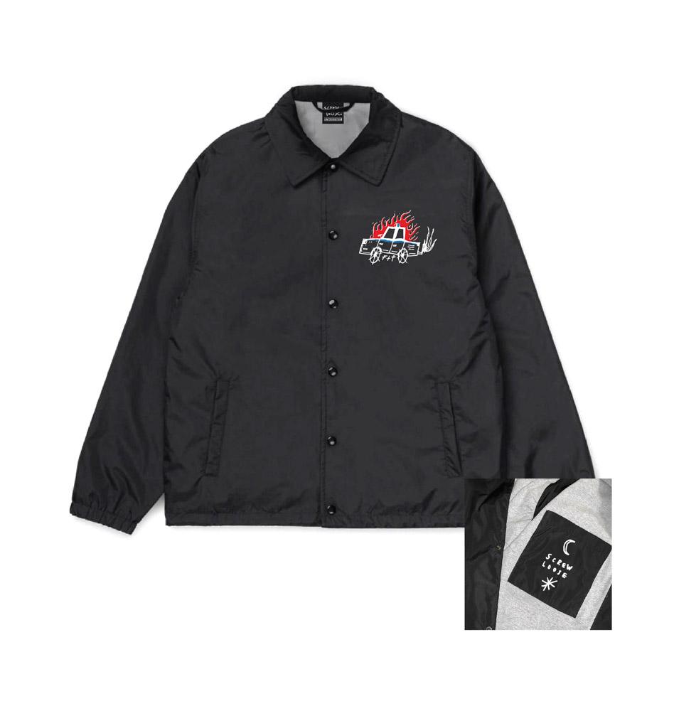 Screw Loose Ftp Coach Jacket Black
