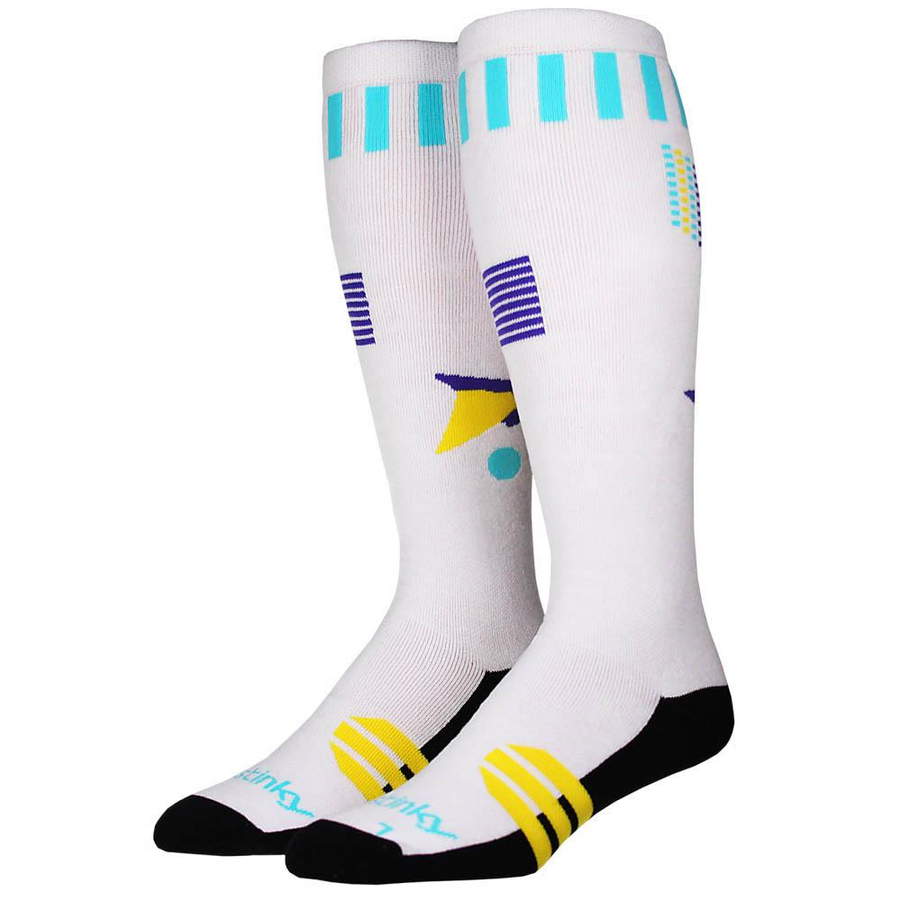 Stinky Socks Surf's Up White Snow Socks