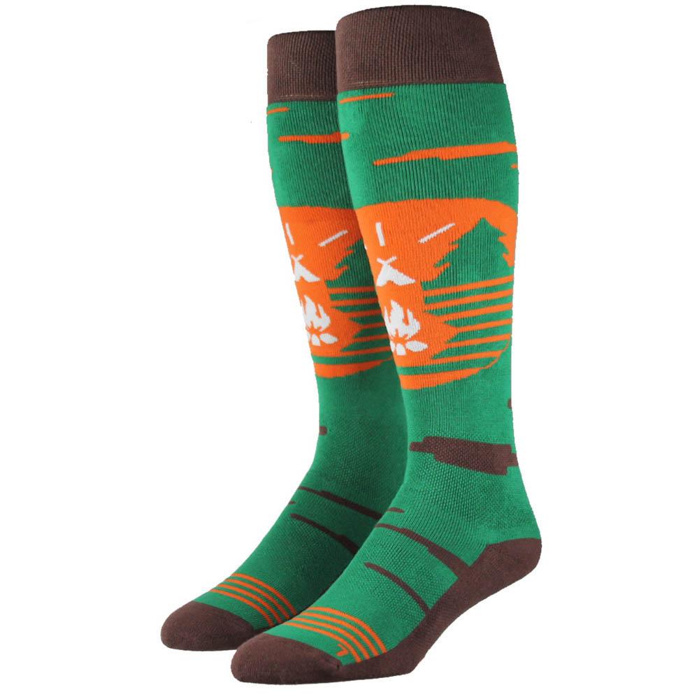 Stinky Socks Unplugged Green Brown Snow Socks