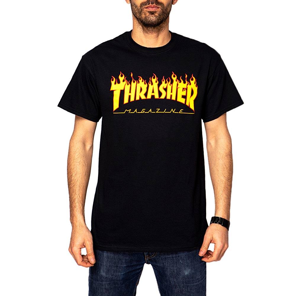 Thrasher Flame Black Men's T-Shirt