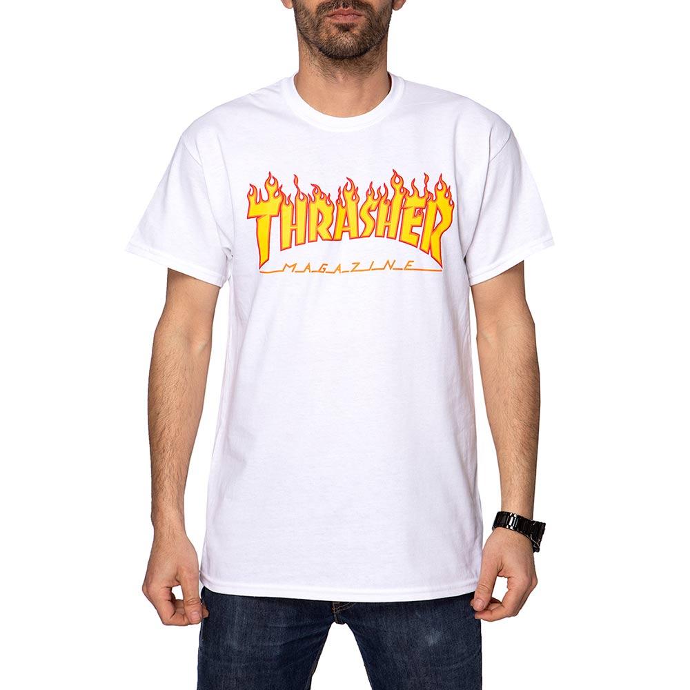 Thrasher Flame White Men's T-Shirt