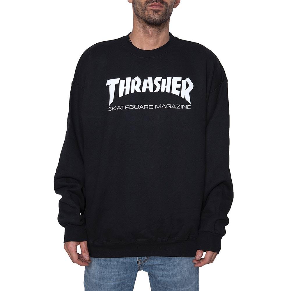 Thrasher Skate Mag Crew Black