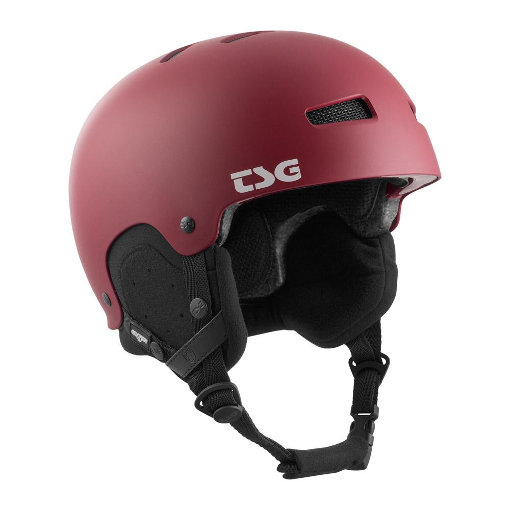 TSG Gravity Solid Color Satin Grape Red Helmet