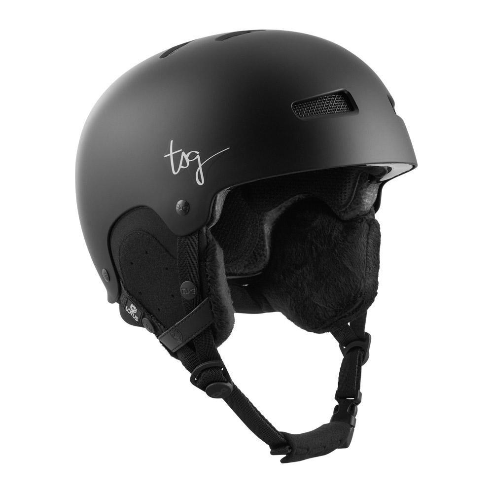 TSG Lotus Solid Color Satin Black Women's Helmet